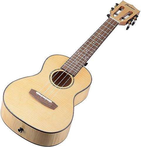 popular Mallofusa Professional Concert 4-String Ukulele 23 inch Wooden Ukulele Instrument, Full Flamed Maple Natural new arrival (Without 2021 EQ/Tuner) online sale
