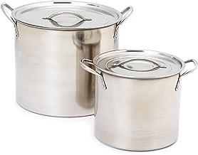وعاء من الفولاذ المقاوم للصدأ من IMUSA USA L300-40317 سعة 20 لتر، فضي