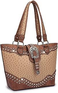 Dasein Designer Western Style Rhinestone Belt Buckle Camo Women's Tote Handbag Perfect Shoulder Bag