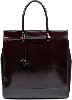 Treen Manor Crinkle Patent Leather Tote (Port)