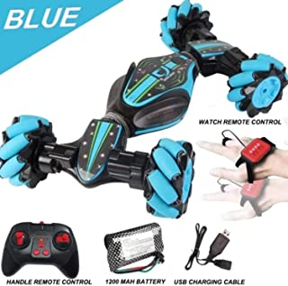 DATOO Christmas Limited TIME Offer-Gesture Control - Double-Sided Stunt CAR (Blue)