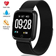 Fitness Tracker - Activity Tracker with Step Counter - Waterproof SmartWatch with Heart Rate...