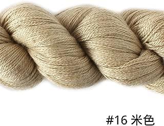 Silky Cashmere Fingering Weight Yarn Hand Knitting/Crochet for Fashion Garments (16-Cream)