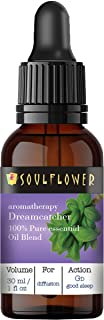 Soulflower Good Sleep Dreamcatcher Aromatherapy Essential Oil Blend with Lavender, Ylang Ylang & Basil Pure, Organic, Vega...