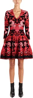 Alexander McQueen Luxury Fashion Womens 594986Q1AJ56030 Red Dress | Fall Winter 19