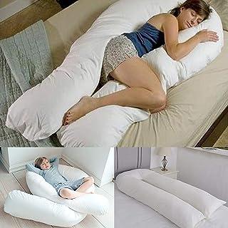 Almohada de apoyo para embarazo, espalda, pierna, cadera, artritis, cuerpo completo, con forma de C_U de 12 pies de largo