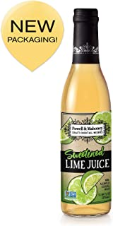 Powell & Mahoney Craft Cocktail Mixers, Sweetened Lime Juice, Non Alcoholic, 375ml
