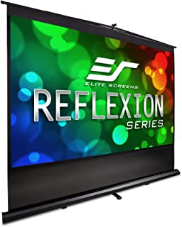 Elite Screens Reflexion Series, 110-INCH 16:9, Manual Pull Up Projector Screen, Movie Home Theater 8K / 4K Ultra HD 3D Ready, 2-YEAR WARRANTY, FM110H