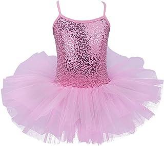 e151ff45b Freebily Maillot de Ballet Danza Vestido Algodón con Lentejuelas para Niña  (4-8 años