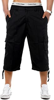 onpointlook Mens Big Size Shorts 3/4 Combat Cargo Casual Pants Elasticated Waist Pockets Plus Size M XL 2XL 3XL 4XL 5XL 6XL