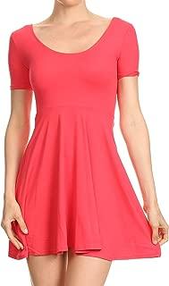 coral pink skater dress