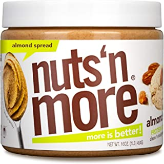 Nuts 'N More Almond Butter Spread, All Natural High Protein Nut Butter Healthy Snack, Omega 3's, Antioxidants, Low Carb, L...