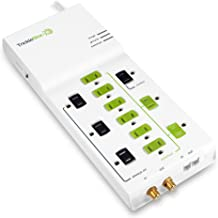 TrickleStar 12 Outlet Advanced PowerStrip, 4320 Joules, Coax + RJ11 Secondary Protection, 4 foot cord