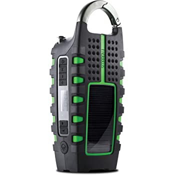 Eton Rugged Multipowered Portable Emergency Weather Radio & Flashlight, Green (NSP101WXGR)
