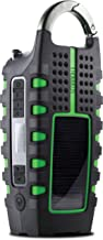 Eton Rugged Multipowered Portable Emergency Weather Radio & Flashlight, Green (NSP101WXGR)