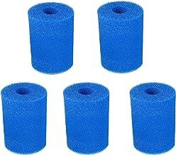 Cartucho de esponja de filtro de piscina para bomba de piscina tipo H/A/S1/I/II/VI/D/VII/B, paquete de 5 cartuchos de bomba de filtro lavable reutilizables de espuma de filtro de piscina,5 Type II