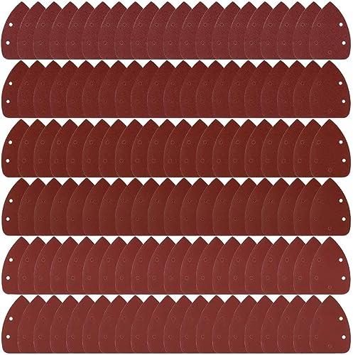 hojas de lija de gancho y bucle para lijadora de palma 40 piezas de papel de lija con detalle de rat/ón para repuesto de 140 x 90 mm 40//60//80//120