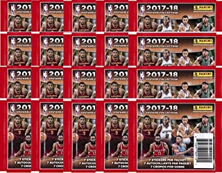 20 PACKS: 2017/18 Panini NBA Basketball Sticker Collection (140 total stickers)