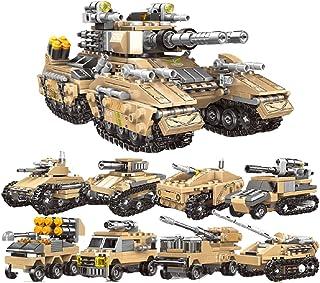 الأطفال و مكعبات بناء ليغو جزيئات صغيرة الحرب الثانية تجميع الشكل اللعب ذكاء لغز دبابة سيارة مصفحة الصبي
