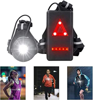 West Biking Night Running Lights, USB Rechargeable Chest Light with 90° Adjustable Beam Angle, 500 Lumens Waterproof Ultra...