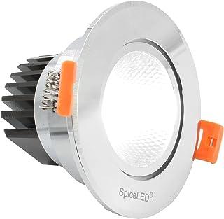 SpiceLED/Spot LED encastrable «DownLED», en aluminium, 230 V, 6w / blanc chaud