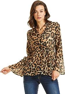 SONJA BETRO Women's Printed Twist Accent Long Sleeve Tunic Plus Size