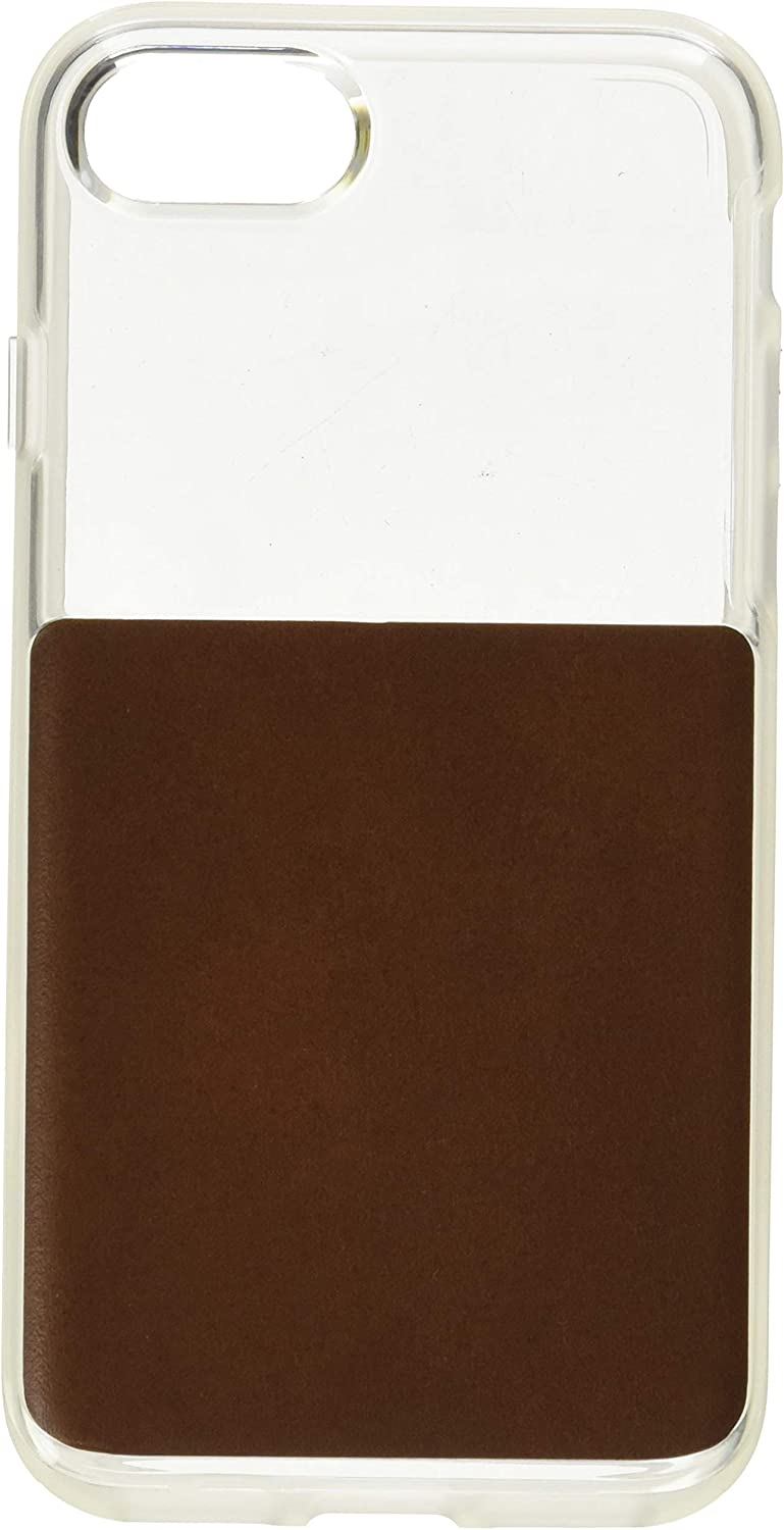 Nomad Clear Case for iPhone 7s | Rustic Brown Horween Leather