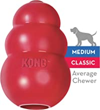 KONG - Classic Dog Toy - Durable Natural Rubber - Fun to Chew, Chase and Fetch - For Medium Dogs