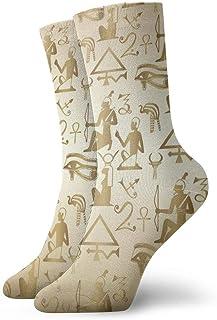 Papel tapiz de fondo egipcio Calcetines transpirables y cómodos, adecuados para todos los calcetines de temporada, calcetines de vestir