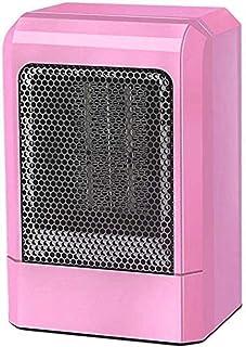 SYLOZ Calentadores eléctricos Calentador de Espacios Mini Calentador Ventilador portátil Escritorio Calefacción eléctrica de protección contra sobrecalentamiento Termostato (Color : Pink)
