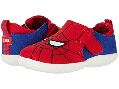 TOMS Kids Whiley (Infant/Toddler) (Red Marvel Spider Man Face Print) Kid