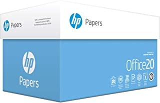 HP Printer Paper, Office20 Paper, 8.5 x 11 Paper, Letter Size, 92 Bright - 5 Ream / 2,500 Sheets (172160C)