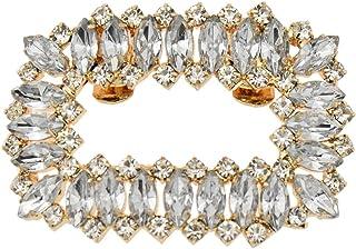 YNuth Clip de Zapatos Adornos para Zapatos de Boda Decoración Prendedores con Diamantes de Imitación Insertados en Forma R...