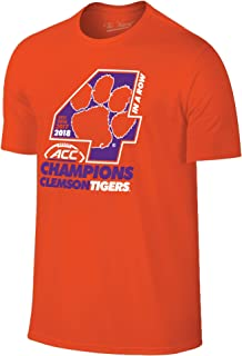 Clemson Tigers 2018 Acc College Football Champions 4-Time Locker Room T-Shirt