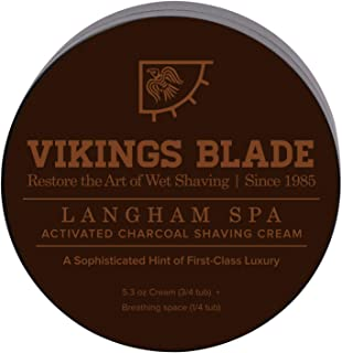 VIKINGS BLADE Activated CHARCOAL Anti-Ageing Luxury Shaving Cream (Langham Spa)
