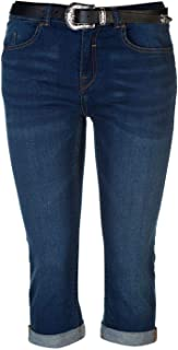 SoulCal Womens Belted Cropped Jeans Ladies