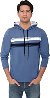 HVBK Men Full Sleeve Hooded T-Shirt (AZ-5-C-M.Blue)