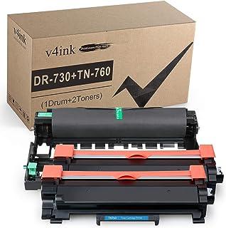 v4ink Compatible Drum and Toner Cartridge Replacement for Brother DR730 TN760 (1Drum+2Toner, Design V3) for HL-L2350DW HL-...