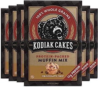 Kodiak Cakes Muffin Mix, Chocolate Chip (Pack of 6)