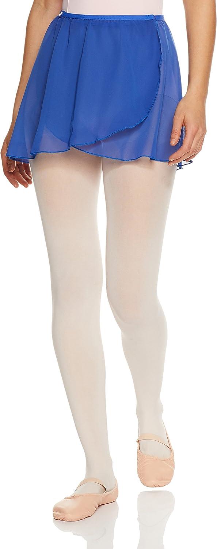 Capezio Button Wrap Skirt, bluee, Medium Large