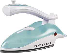 BEPER 50200 Fer à Repasser de Voyage, Blanc, Bleu Clair, Unique