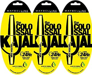 Maybelline New York Colossal Kajal, Black, Combo Pack of 3