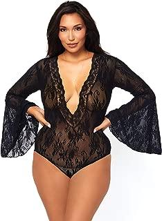 Women's Sexy Lace Plus Size Lingerie Bodysuit
