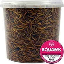 SQUAWK Dried Mealworms | Premium Garden Wild Bird Food Mix | High Quality Balanced Formula | Protein-Rich, Great Source of Energy | Contains Beneficial Mixed Vitamins | Large Variety (5L Tub)