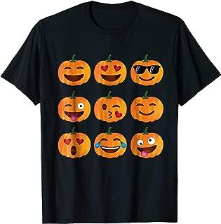 Emoji T-Shirt, Pumpkin Shirt Emoji Halloween Costume