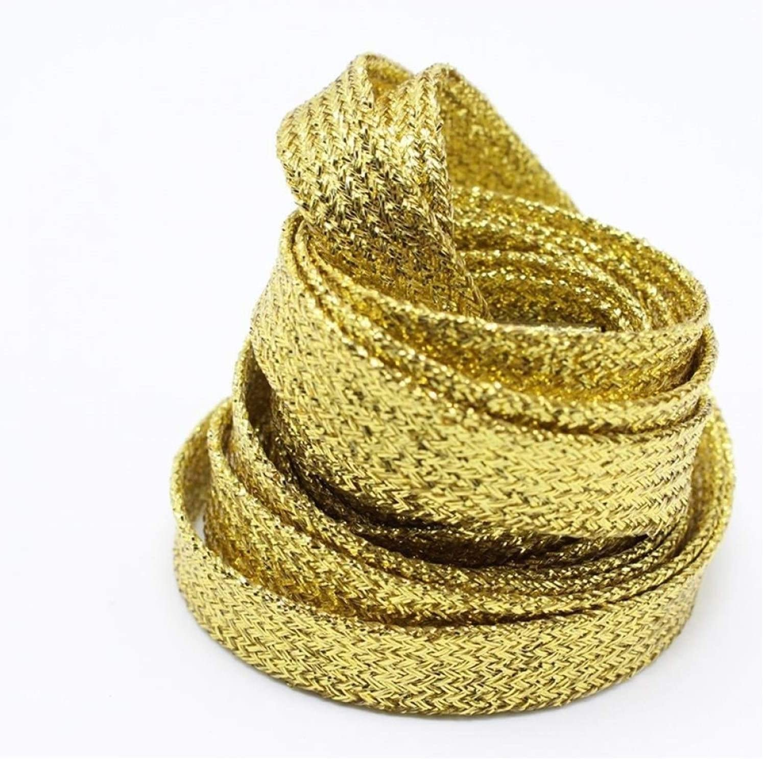 Color : Black RQBHD Colorful Man Women Shoelaces of Sneakers Metallic Glitter Shiny Gold Shoelace Silver Flat Shoe Laces Sports Running Shoe Lacing