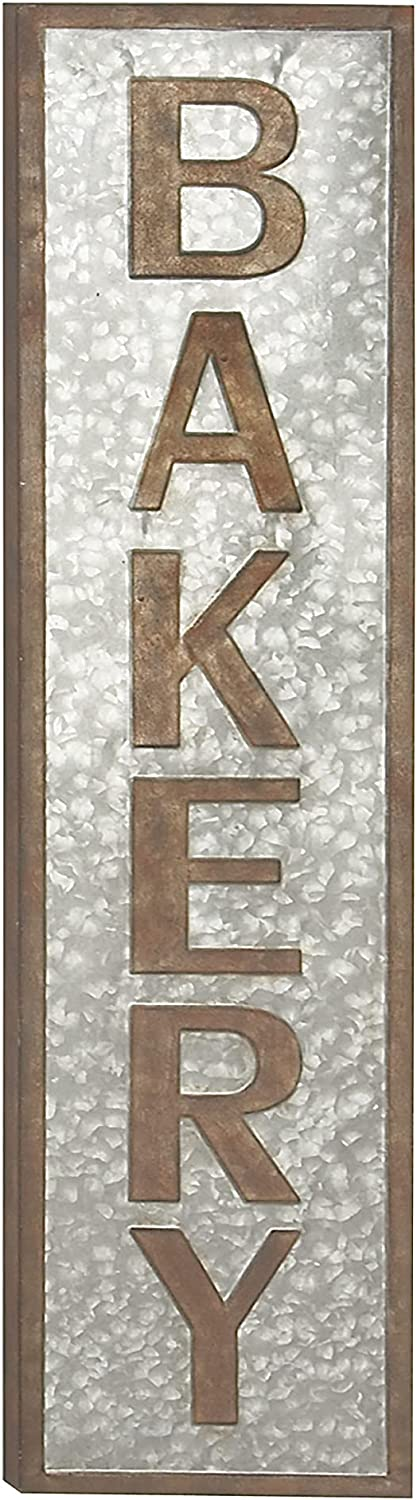 Deco 79 22667 Wall Sign, Brown, Gray