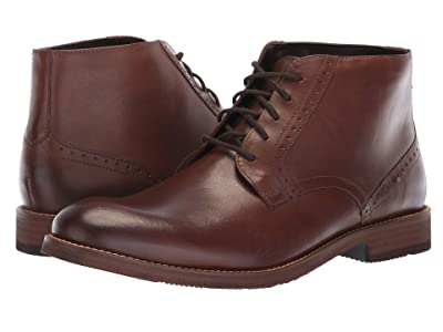Nunn Bush Middleton Plain Toe Chukka (Brown) Men