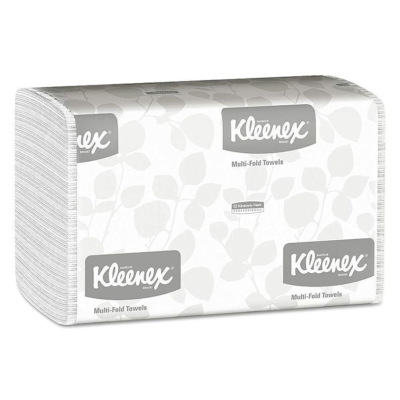 再生教育学宇宙飛行士Kimberly-Clark プロフェッショナル Kleenex マルチフォールドペーパータオル (01890) ホワイト 16パック/ケース 150枚 三つ折りペーパータオル/パック 2,400枚/ケース