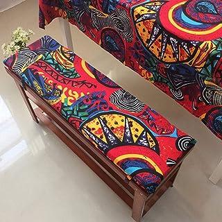 Interior Y Exterior Patio Cojín De Banco,Estilo Vintage Cojín De Swing con Corbatas,Étnicos Asiático Cojines Colorido Cojines para Silla